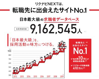 リクナビNEXTは転職先に出会えたサイトNo.1。日本最大級の求職者データベース